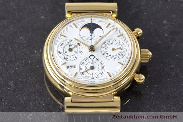 Used luxury watch IWC Da Vinci chronograph 18 ct gold automatic Kal. 79061 Ref. 3750  | 161789 14