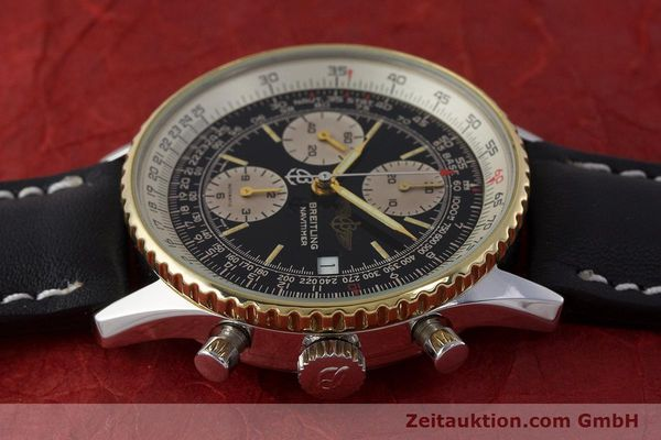 Used luxury watch Breitling Navitimer chronograph steel / gold automatic Kal. Valj. 7750 Ref. B13019  | 161794 05