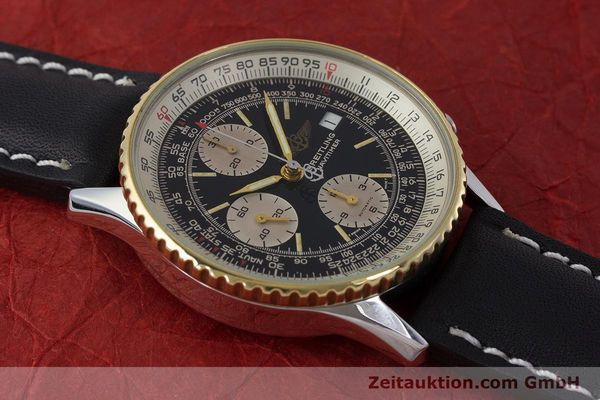 Used luxury watch Breitling Navitimer chronograph steel / gold automatic Kal. Valj. 7750 Ref. B13019  | 161794 13