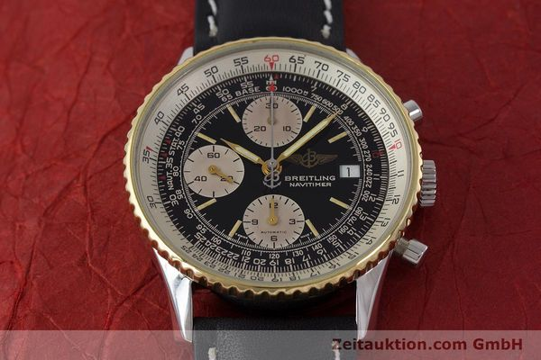 Used luxury watch Breitling Navitimer chronograph steel / gold automatic Kal. Valj. 7750 Ref. B13019  | 161794 14