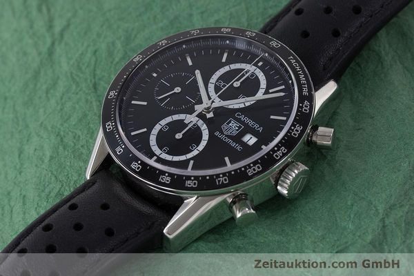 Used luxury watch Tag Heuer Carrera chronograph steel automatic Kal. 16 ETA 7750 Ref. CV2010-3  | 161795 01
