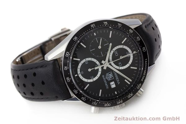 Used luxury watch Tag Heuer Carrera chronograph steel automatic Kal. 16 ETA 7750 Ref. CV2010-3  | 161795 03