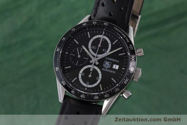 Used luxury watch Tag Heuer Carrera chronograph steel automatic Kal. 16 ETA 7750 Ref. CV2010-3  | 161795 04