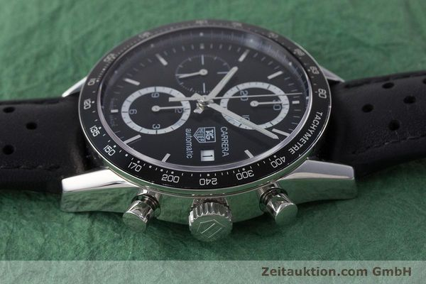 Used luxury watch Tag Heuer Carrera chronograph steel automatic Kal. 16 ETA 7750 Ref. CV2010-3  | 161795 05