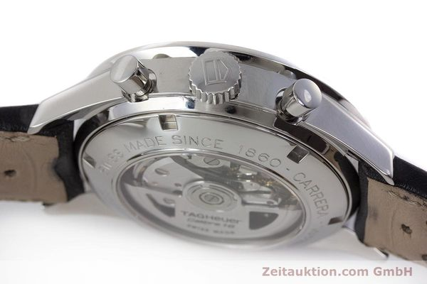 Used luxury watch Tag Heuer Carrera chronograph steel automatic Kal. 16 ETA 7750 Ref. CV2010-3  | 161795 08
