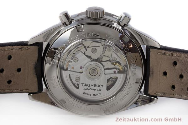 Used luxury watch Tag Heuer Carrera chronograph steel automatic Kal. 16 ETA 7750 Ref. CV2010-3  | 161795 09