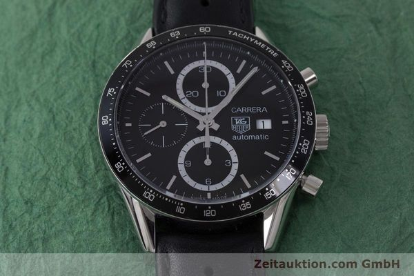 Used luxury watch Tag Heuer Carrera chronograph steel automatic Kal. 16 ETA 7750 Ref. CV2010-3  | 161795 15