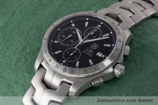 Used luxury watch Tag Heuer Link chronograph steel automatic Kal. 16 ETA 7750 Ref. CJF2110-0  | 161798 01