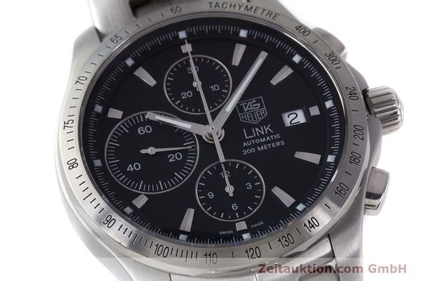 Used luxury watch Tag Heuer Link chronograph steel automatic Kal. 16 ETA 7750 Ref. CJF2110-0  | 161798 02