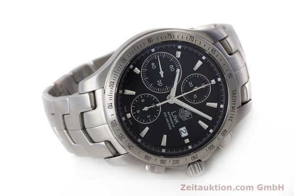 Used luxury watch Tag Heuer Link chronograph steel automatic Kal. 16 ETA 7750 Ref. CJF2110-0  | 161798 03