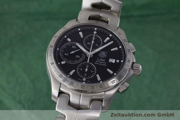 Used luxury watch Tag Heuer Link chronograph steel automatic Kal. 16 ETA 7750 Ref. CJF2110-0  | 161798 04