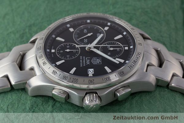 Used luxury watch Tag Heuer Link chronograph steel automatic Kal. 16 ETA 7750 Ref. CJF2110-0  | 161798 05