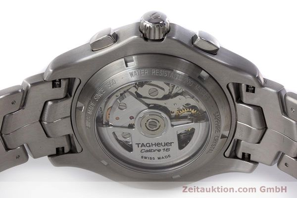Used luxury watch Tag Heuer Link chronograph steel automatic Kal. 16 ETA 7750 Ref. CJF2110-0  | 161798 09
