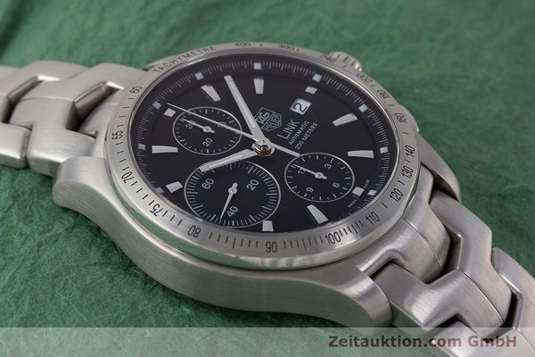 Used luxury watch Tag Heuer Link chronograph steel automatic Kal. 16 ETA 7750 Ref. CJF2110-0  | 161798 14
