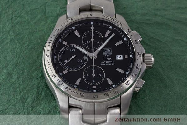 Used luxury watch Tag Heuer Link chronograph steel automatic Kal. 16 ETA 7750 Ref. CJF2110-0  | 161798 15