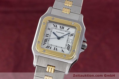 CARTIER SANTOS ACIER / OR AUTOMATIQUE KAL. ETA 2671 LP: 7100EUR [161800]