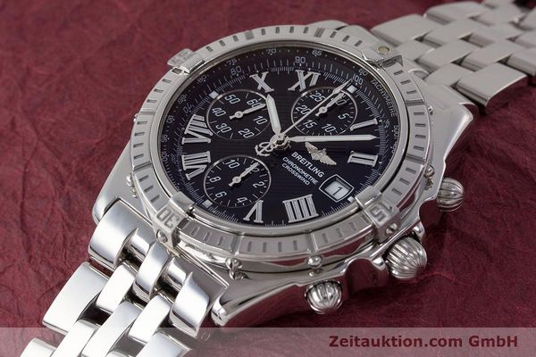 Used luxury watch Breitling Crosswind chronograph steel automatic Kal. B13 ETA 7750 Ref. A13355  | 161808 01