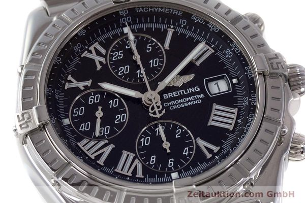 Used luxury watch Breitling Crosswind chronograph steel automatic Kal. B13 ETA 7750 Ref. A13355  | 161808 02
