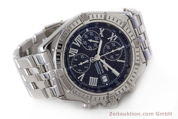 Used luxury watch Breitling Crosswind chronograph steel automatic Kal. B13 ETA 7750 Ref. A13355  | 161808 03