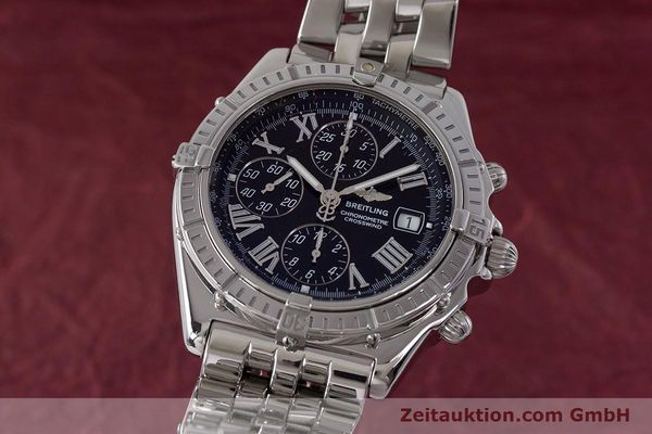 Used luxury watch Breitling Crosswind chronograph steel automatic Kal. B13 ETA 7750 Ref. A13355  | 161808 04