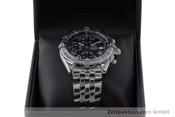 Used luxury watch Breitling Crosswind chronograph steel automatic Kal. B13 ETA 7750 Ref. A13355  | 161808 07