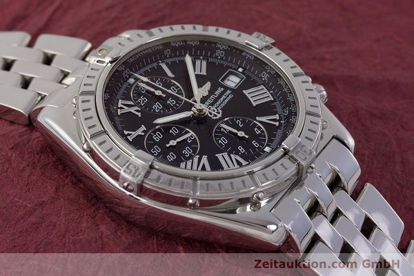 Used luxury watch Breitling Crosswind chronograph steel automatic Kal. B13 ETA 7750 Ref. A13355  | 161808 14