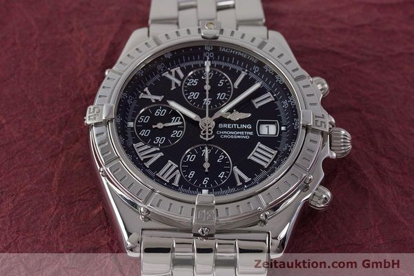 Used luxury watch Breitling Crosswind chronograph steel automatic Kal. B13 ETA 7750 Ref. A13355  | 161808 15