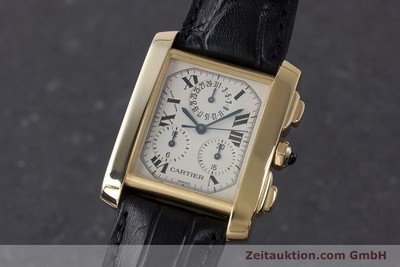 CARTIER TANK FRANCAISE CHRONOGRAPHE OR 18 CT QUARTZ KAL. 212P [161823]