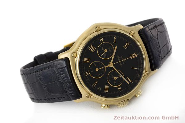 Used luxury watch Ebel 1911 chronograph 18 ct gold automatic Kal. 134 400 Ref. 8134901  | 161824 03