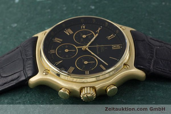 Used luxury watch Ebel 1911 chronograph 18 ct gold automatic Kal. 134 400 Ref. 8134901  | 161824 05