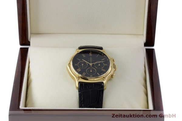 Used luxury watch Ebel 1911 chronograph 18 ct gold automatic Kal. 134 400 Ref. 8134901  | 161824 07