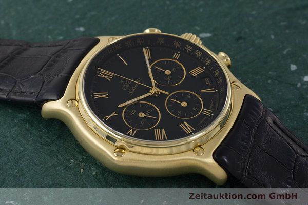 Used luxury watch Ebel 1911 chronograph 18 ct gold automatic Kal. 134 400 Ref. 8134901  | 161824 12