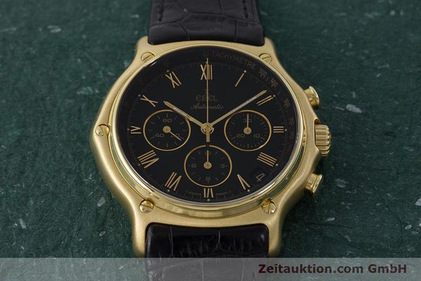 Used luxury watch Ebel 1911 chronograph 18 ct gold automatic Kal. 134 400 Ref. 8134901  | 161824 13
