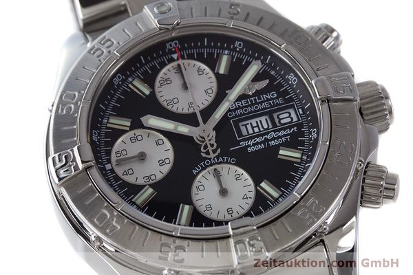 Used luxury watch Breitling Superocean Chronograph chronograph steel automatic Kal. B13 ETA 7750 Ref. A13340  | 161826 02