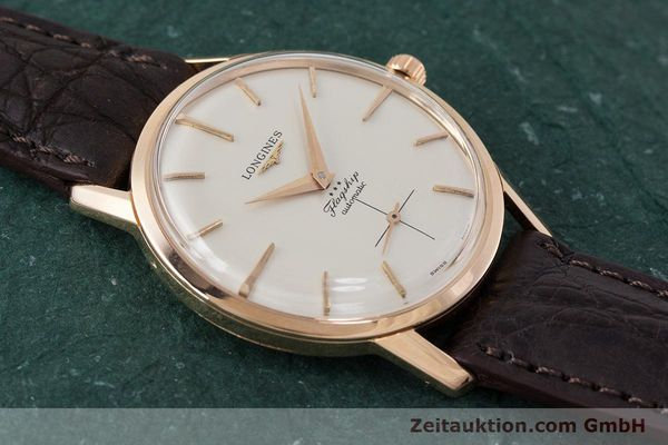 Used luxury watch Longines Flagship 18 ct gold automatic Kal. 350 VINTAGE  | 161836 13