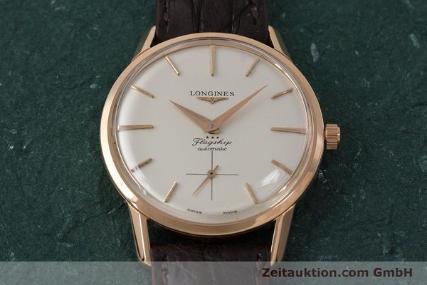 Used luxury watch Longines Flagship 18 ct gold automatic Kal. 350 VINTAGE  | 161836 14
