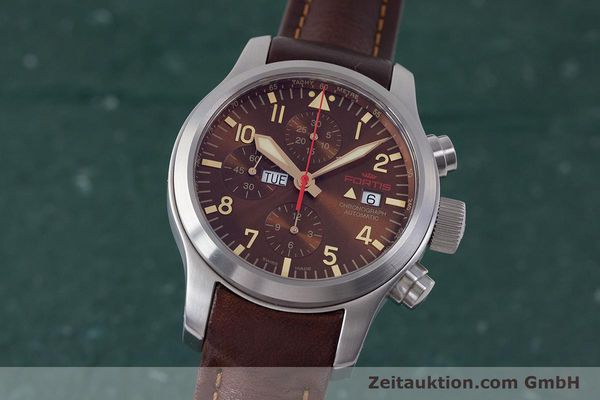 Used luxury watch Fortis B-42 chronograph steel automatic Kal. ETA 7750 Ref. 656.10.141  | 161841 04