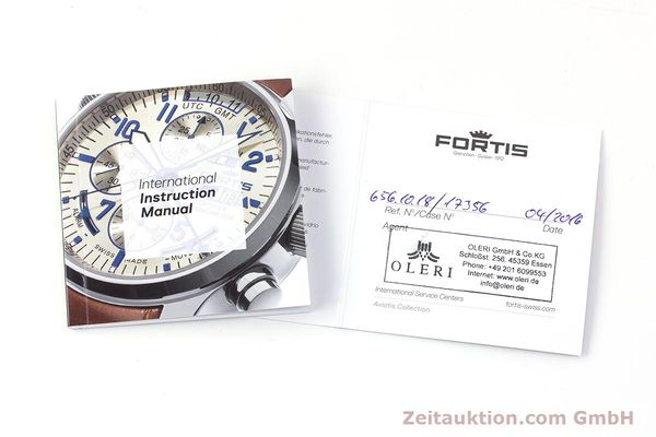 Used luxury watch Fortis B-42 chronograph steel automatic Kal. ETA 7750 Ref. 656.10.141  | 161841 08