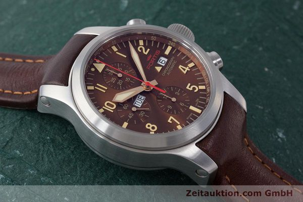 Used luxury watch Fortis B-42 chronograph steel automatic Kal. ETA 7750 Ref. 656.10.141  | 161841 14