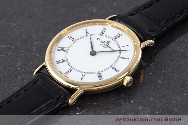Used luxury watch Baume & Mercier * 18 ct gold quartz Kal. BM9098 ETA 210.001  | 161843 01