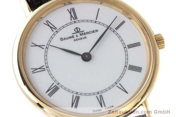 Used luxury watch Baume & Mercier * 18 ct gold quartz Kal. BM9098 ETA 210.001  | 161843 02