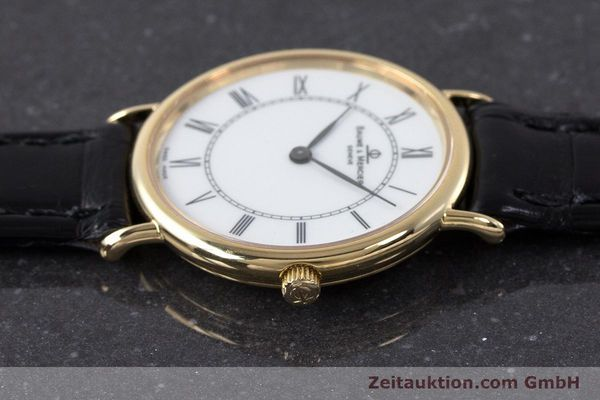 Used luxury watch Baume & Mercier * 18 ct gold quartz Kal. BM9098 ETA 210.001  | 161843 05