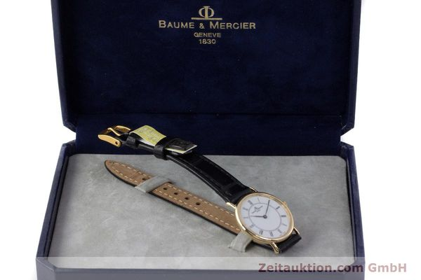 Used luxury watch Baume & Mercier * 18 ct gold quartz Kal. BM9098 ETA 210.001  | 161843 07