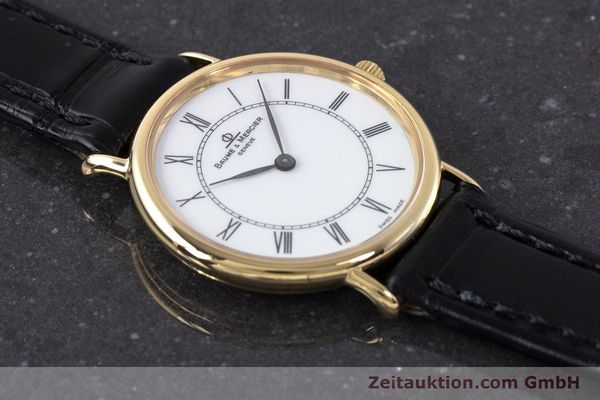 Used luxury watch Baume & Mercier * 18 ct gold quartz Kal. BM9098 ETA 210.001  | 161843 13