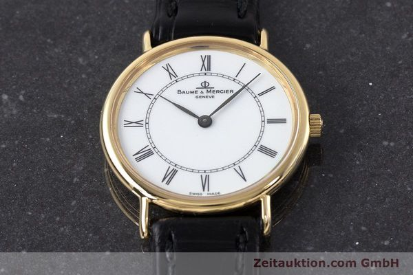 Used luxury watch Baume & Mercier * 18 ct gold quartz Kal. BM9098 ETA 210.001  | 161843 14