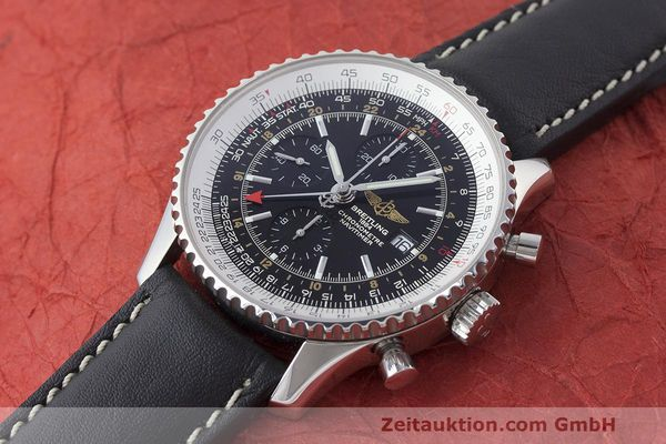 Used luxury watch Breitling Navitimer World chronograph steel automatic Kal. B24 ETA 7754 Ref. A24322  | 161844 01