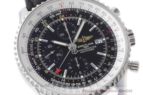Used luxury watch Breitling Navitimer World chronograph steel automatic Kal. B24 ETA 7754 Ref. A24322  | 161844 02