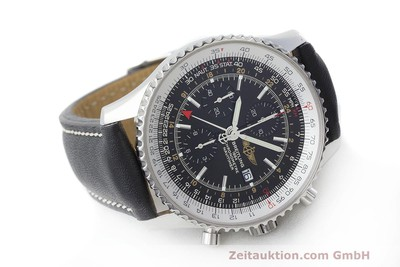 BREITLING NAVITIMER WORLD CHRONOGRAPH GMT MIT STAHLBAND A24322 NP: 6640,- EURO [161844]