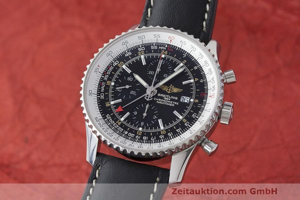 Used luxury watch Breitling Navitimer World chronograph steel automatic Kal. B24 ETA 7754 Ref. A24322  | 161844 04
