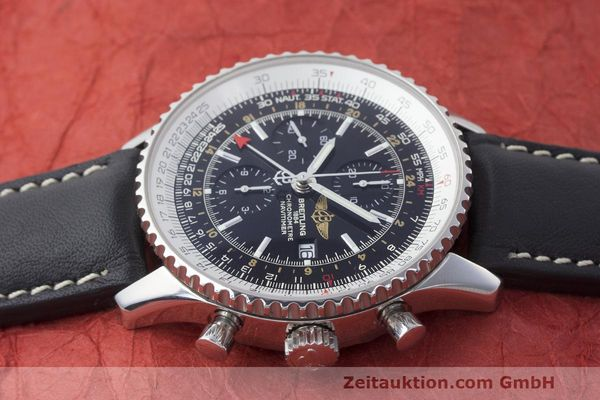 Used luxury watch Breitling Navitimer World chronograph steel automatic Kal. B24 ETA 7754 Ref. A24322  | 161844 05